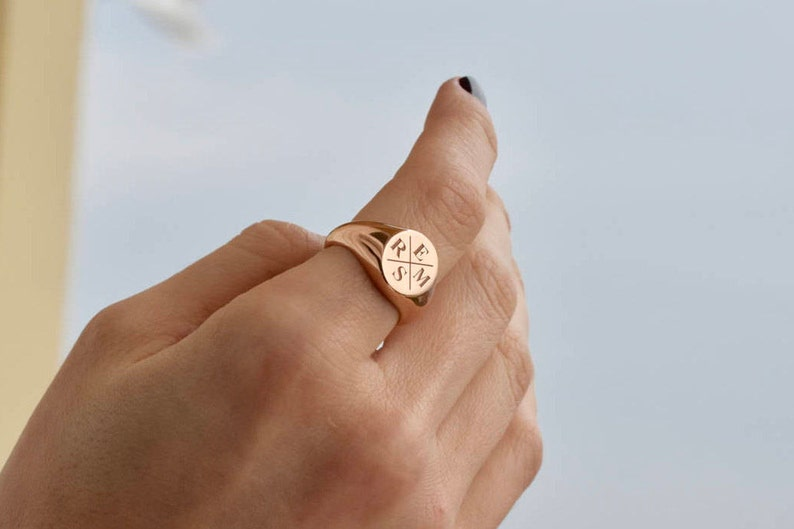 Family Signet Ring  Personalized Signet Ring  Signet Ring  image 1