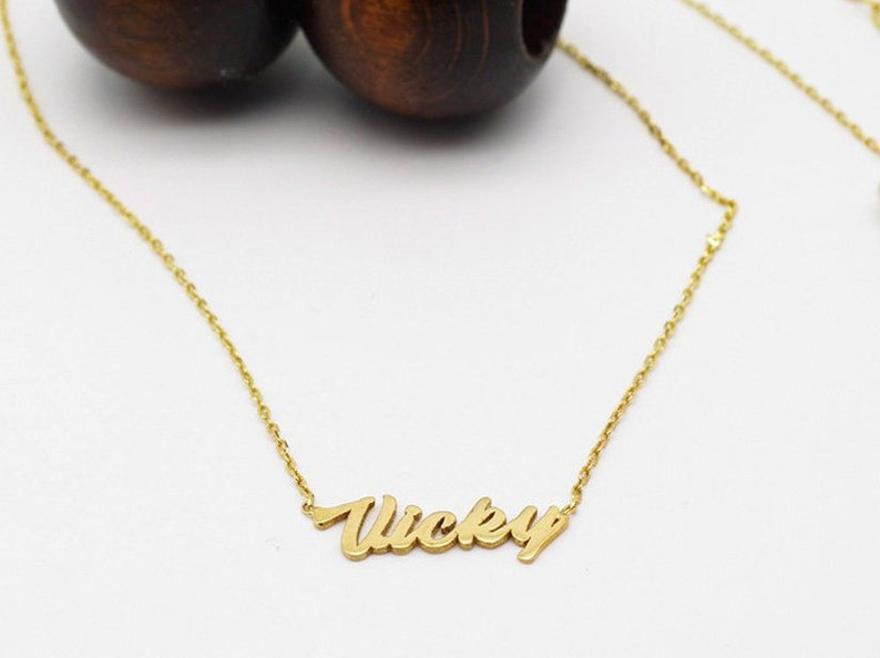 327dbbc286153 Personalized Name Necklace - Name Necklace - Baby Name Necklace - Name  Charm - Bridesmaids Gift - Baby Shower Gift - Valentine's Day Gift