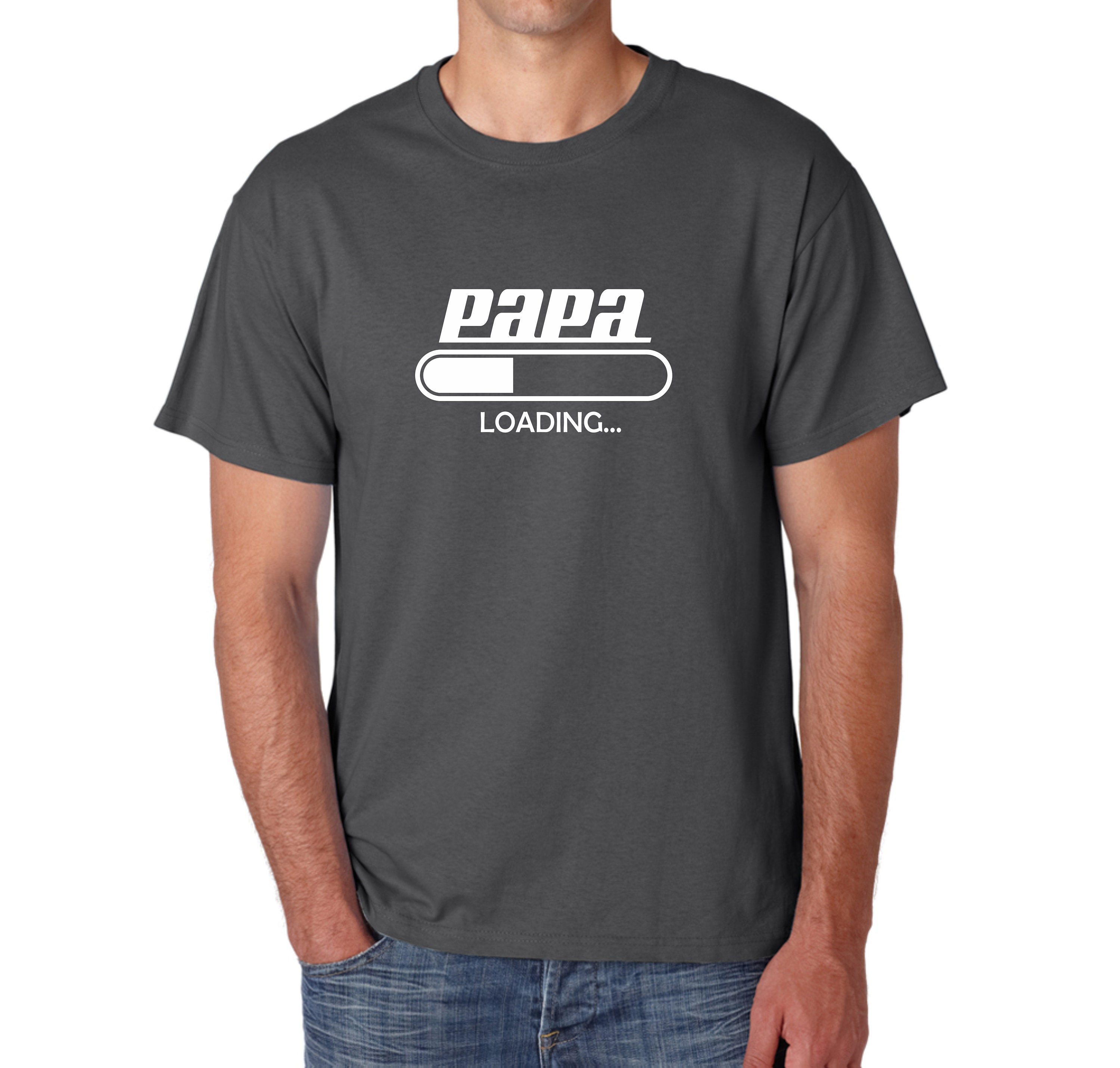 3238a8e6 PAPA LOADING T-Shirt Present For Future Dad Father Paternity | Etsy