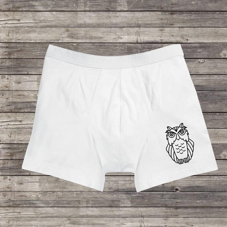 Mens Owl Cool Vintage Underpants Boxer Briefs