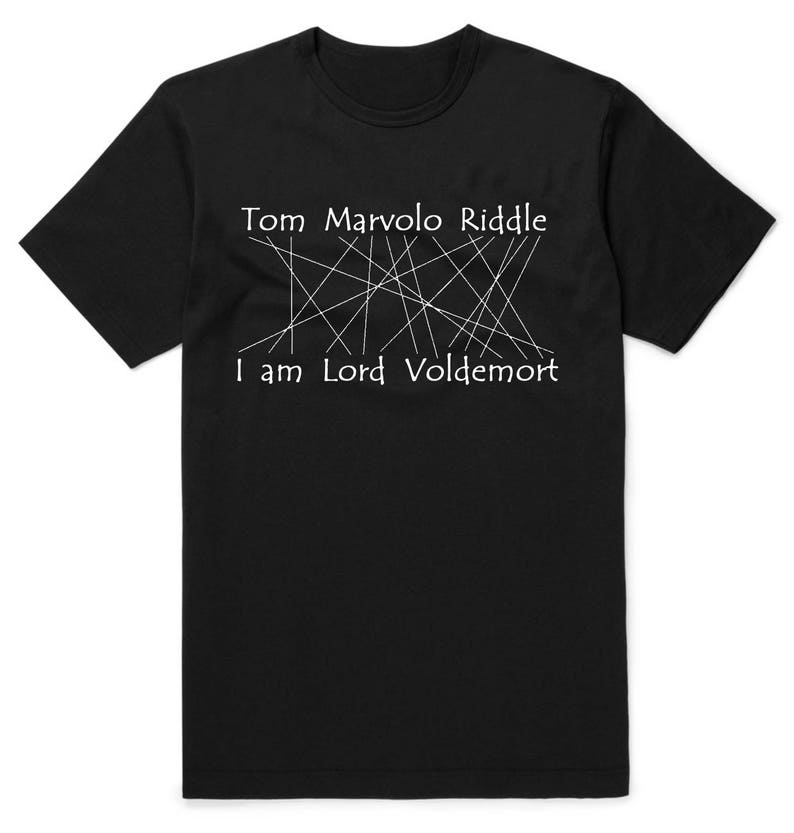 c427b98d09b8 LORD Tom DARK WIZARD Riddle Shirt Tee T-Shirt Gift Cool Shirt   Etsy