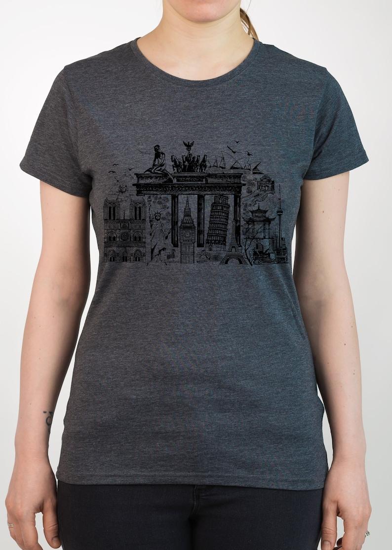 a96bb5c59 WORLD PLACES Tee Architecture SYMBOL T-Shirt Big Ben Eiffel   Etsy