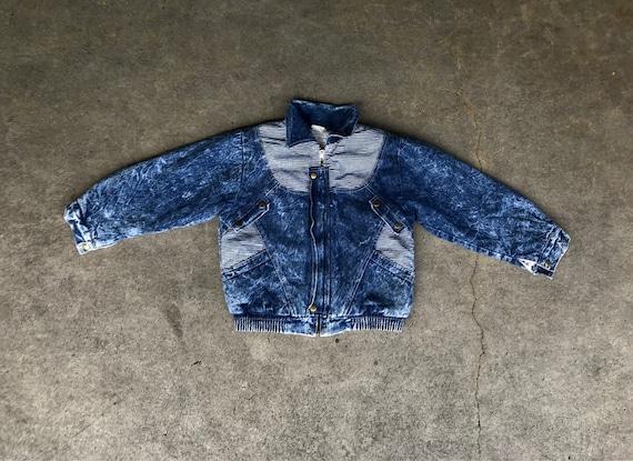 Acid wash tiny fly guy jacket
