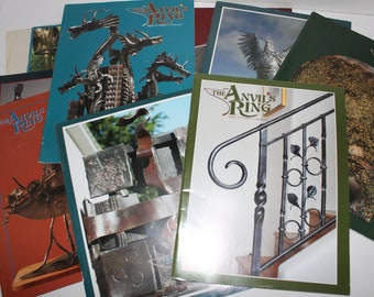 The Anvils Rings Blacksmithing Magazines Mixed Lot of 10