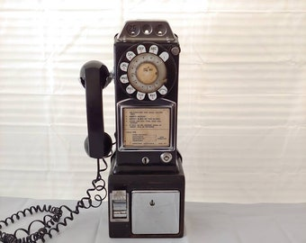"""Porcelain Look Public Telephone Booth 10/"""" x 7/"""" Retro Look Metal Sign"""