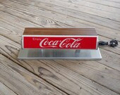 Vintage Coca Cola Double Sided Lighted Soda Fountain Topper Countertop Advertising Coca Cola Display