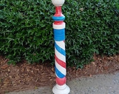 Vintage Wooden Barber Pole Antique Wooden Barber Pole