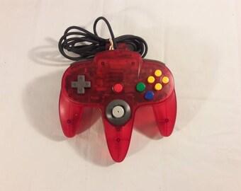 Original Nintendo 64 Watermelon Red Controller