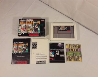 Original Super Nintendo Super Mario All Stars CIB