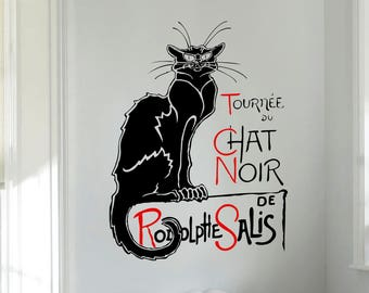 Wall Decal - Le Chat Noir (The Black Cat)