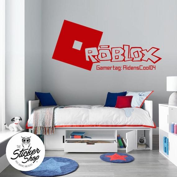 Personnalisé Tout Nom ROBLOX Applique Murale 3D Art Stickers Vinyl Chambre Bedroom 3