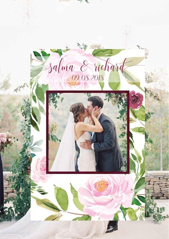 Wedding Photo Booth Frame Wedding Photo Prop Floral Wedding Etsy