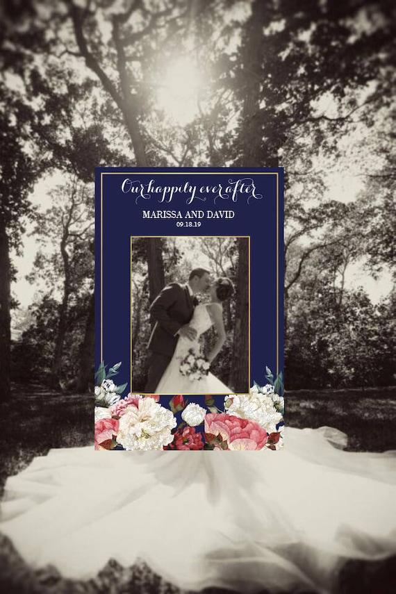 Hochzeit Foto Booth Rahmen Hochzeit Foto Prop Blumen Hochzeit | Etsy