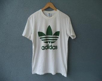 7388629771 Vintage Adidas Trefoil T-Shirt Size Medium 19