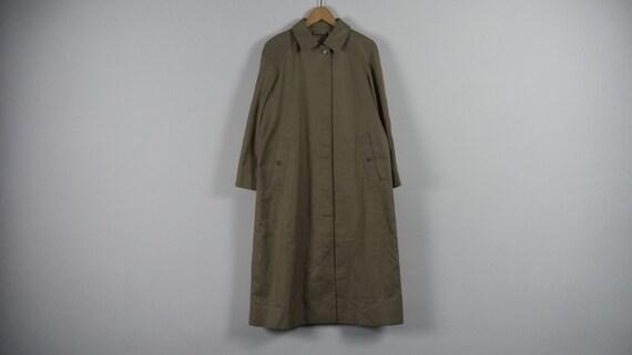 Vintage Burberrys Long Coat Size UK 16