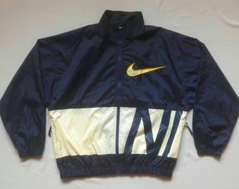 VINTAGE 90's Nike Windbreaker Jacket Big Logo