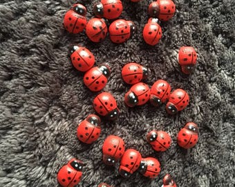 Ladybirds Ladybugs Insect Character Papercraft Embellishments Scrapbooking Card Making Craft Supplies