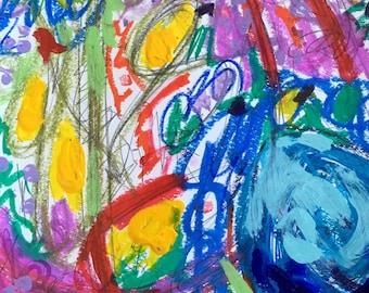 "Original Mixed Media Painting by Elizabeth Fowler ""Buchesca II"""