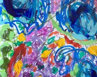 "Original Mixed Media Painting by Elizabeth Fowler ""Buchesca I"""