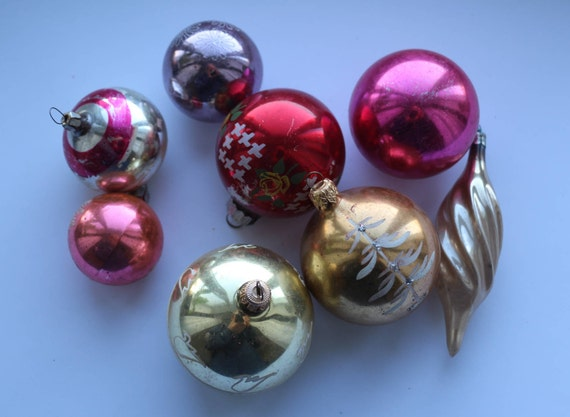 Christmas Ornaments Glass Decoration Christmas Tree Baubles Room Decorations Multi Coloured Christmas Tree Baubles Vintage Glass Toys