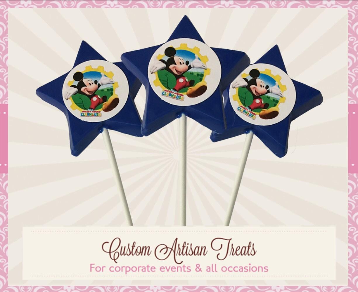 Mickey Super Star Pop Disney Party Deco Edible Treats12 Etsy