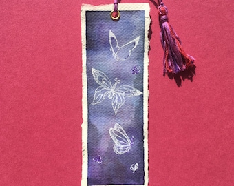 Butterfly Watercolor Bookmark