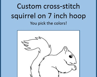 Custom Squirrel Cross Stitch