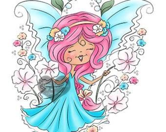 Pepper Belle Flora Digi Doodles Fairy Digi Stamp