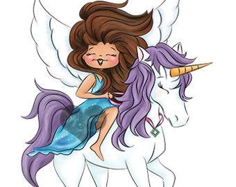 Eden Light Digi Doodles Fairy Digi Stamp