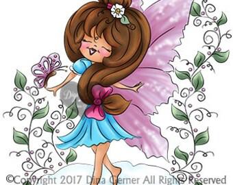 Bruci Angelisa Digi Doodles Fairy Digi Stamp