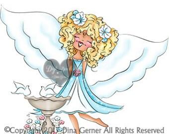 Charneine Berry Blythe Digi Doodles Angel Digi Stamp