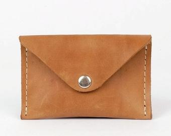 Mini leather wallet | Cognac