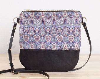Small shoulder bag Crossbody Bag Cotton & Leather