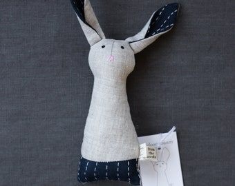 INDIGO kantha heirloom bunny