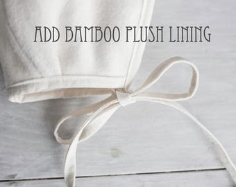 bamboo plush flannel lining add-on