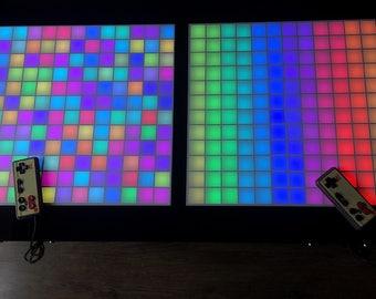 Big Tetris, Game Table, Retro Game console, Arduino Tetris Table, Led Coffee Table, Gift Idea for him, Gadget game