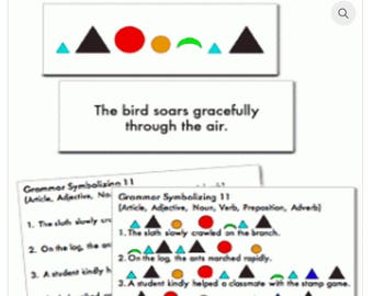 Grammar Cards Complete Set Magnolia Montessori Material