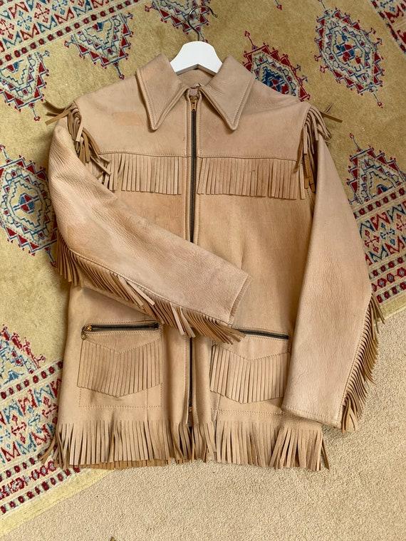 1940s western fringe jacket