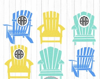 Adirondack chair svg | Etsy