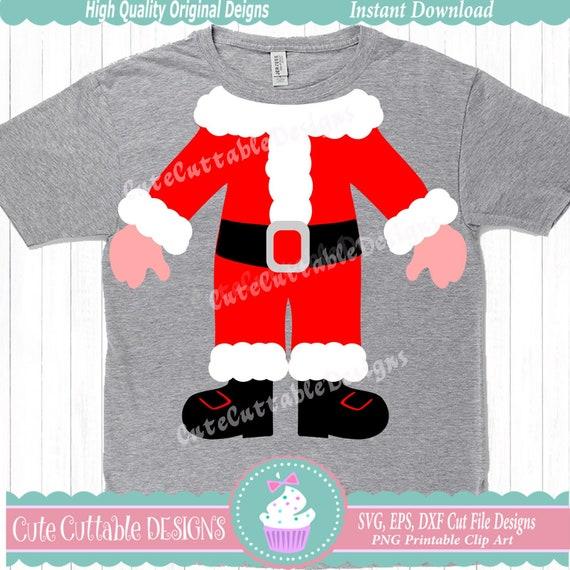 Santa SVG Ugly christmas sweater Christmas SVG santa suit ...