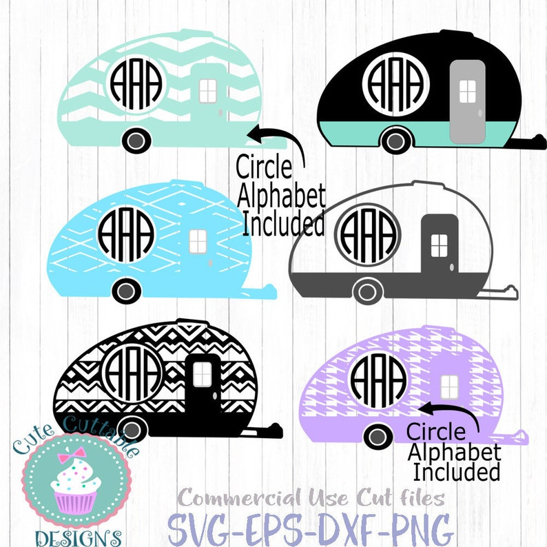 Camp Svg Camper Monogram Frame Free Font Included Camping Svg Etsy