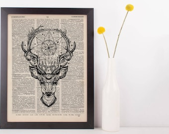 Deer Dreamcatcher Dictionary Print