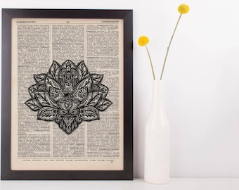 Lotus Mandala Dictionary Print