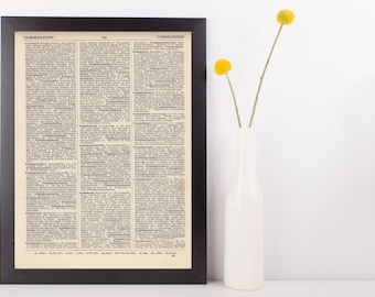 Custom Designed Print Gift Dictionary Art Print