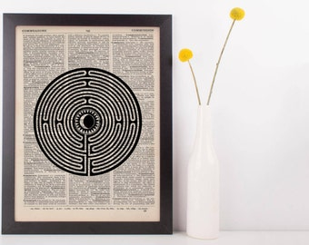 Moon Labyrinth Dictionary Print