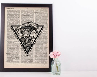 Triangle Waves Dictionary Print
