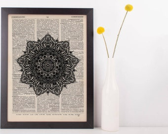 Fancy Star Mandala Dictionary Print