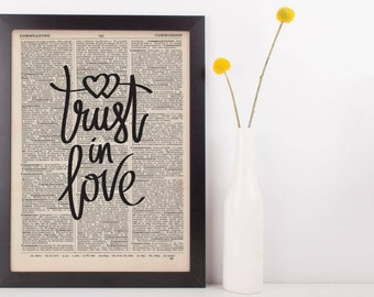 Trust In Love Dictionary Print