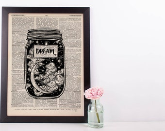 Dream Jar Dictionary Print