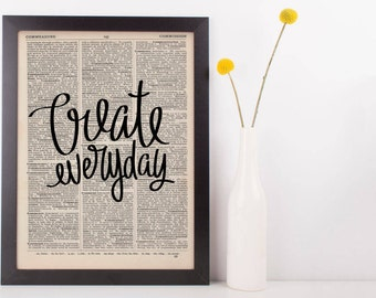 Create Everyday Dictionary Print